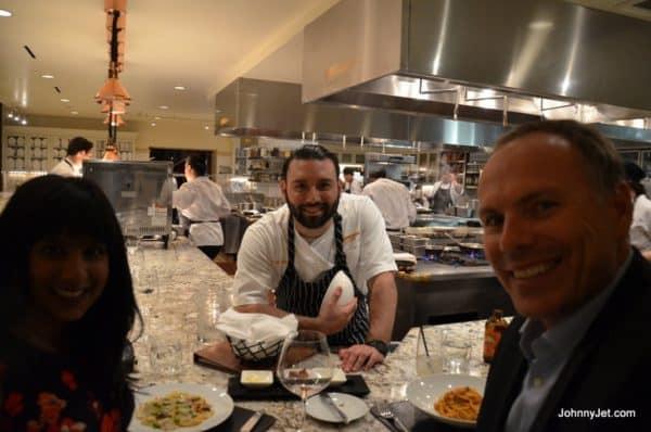 Chef's counter at Scarpetta