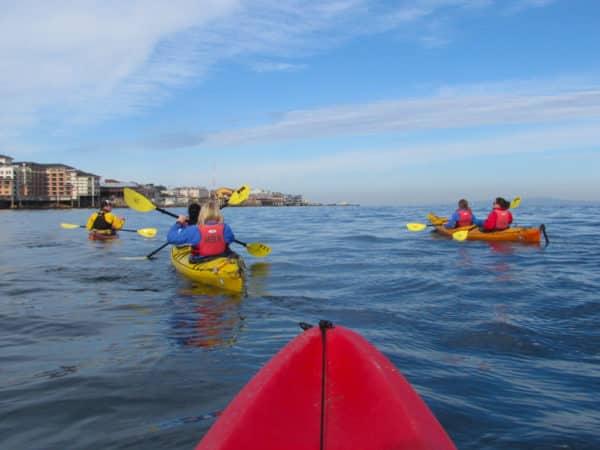 Kayaking in Monterey Bay. Photo by John David Van Kirk