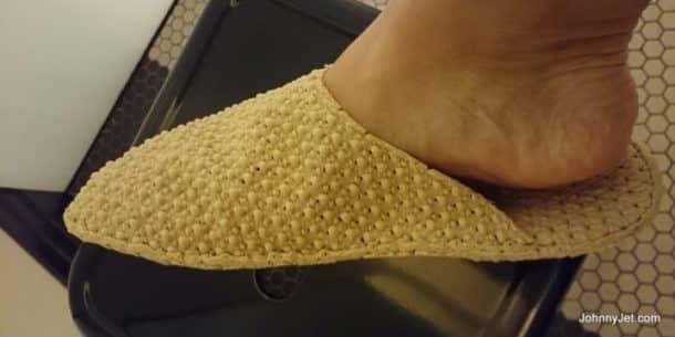 QT Sydney spa slippers