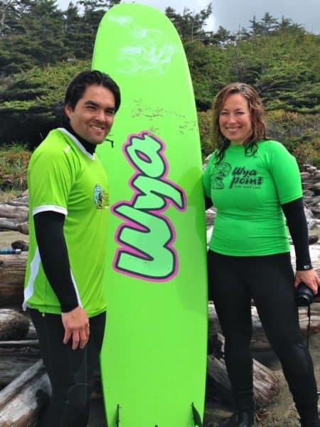 Wya Point Surf lesson w Tyson and GeorgieJet