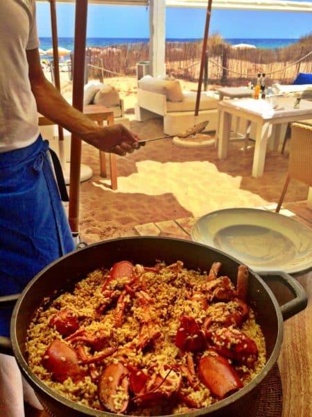 Lobster paella lunch at El Chiringuito (Photo credit: Melissa Curtin)