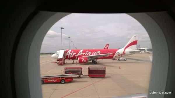Air Asia plane at Bangkok's DMK airport