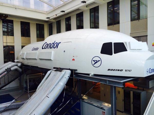 In-flight cabin simulator
