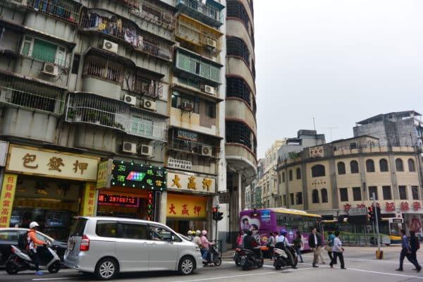 Walking through old Macau