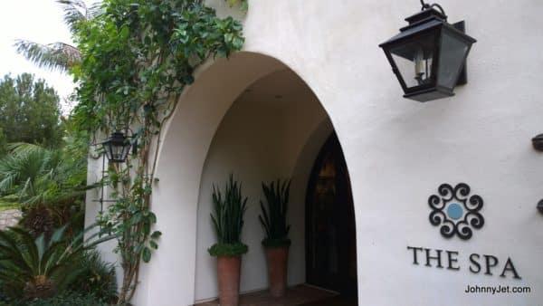 Terranea Resort spa entrance