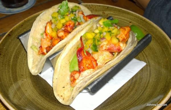 Lobster tacos from Nelson's Restaurant inTerranea Resort