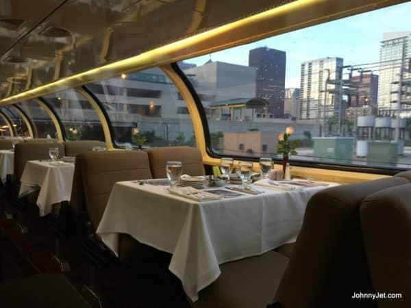 Dining car on Pullman Rail Journeys