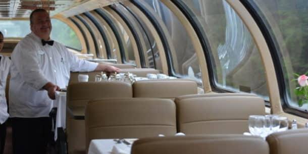 Pullman Rail Journeys dining car for breakfast