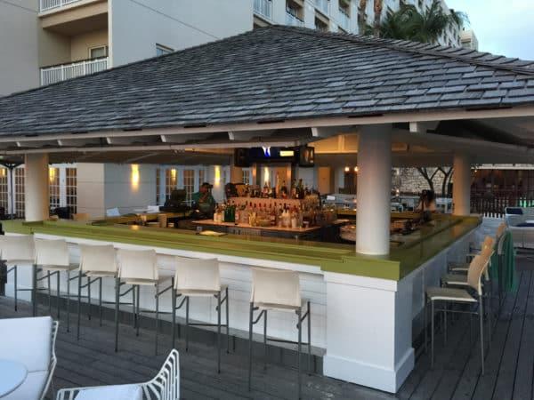 The Palms Beach Bar at the Hyatt