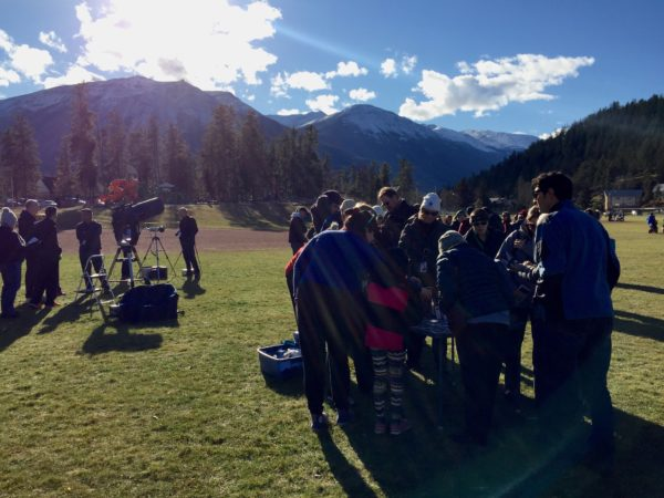 Amateur astronomers leading viewing at Centennial Field