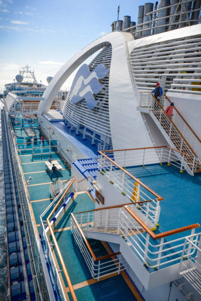 Exploring the decks on that first morning at sea