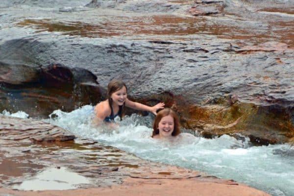 My daughters enjoying Slide Rock State Park