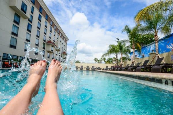 Heated pool, whirlpool and cabanas