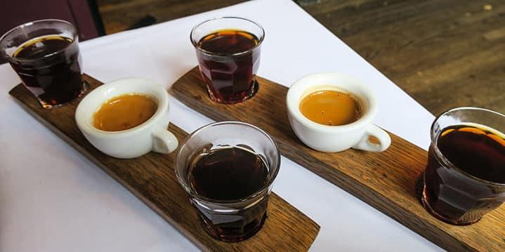 Espresso tasting flight at Sterling Coffee Roasters