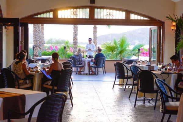 Dinner at Dazante, one of three restaurants at Villa del Palmar