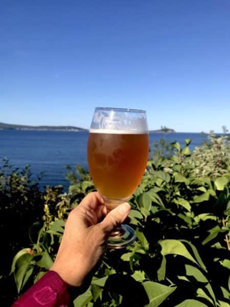 A Cape Breton ale at Keltic Lodge