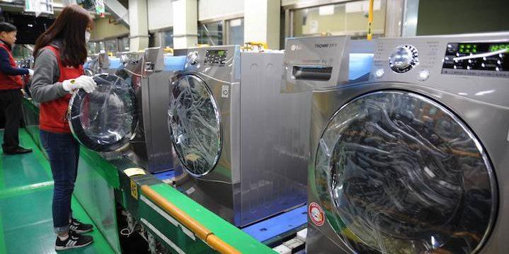 Inside a South Korean factory