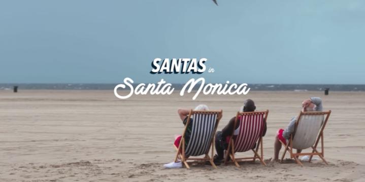 "Orbitz's ""Santas in Santa Monica"""