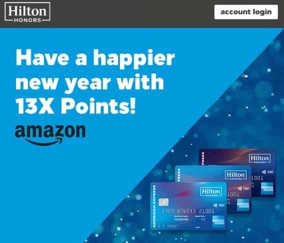 Hilton Honors Credit Card Amazon Bonus hilton credit card