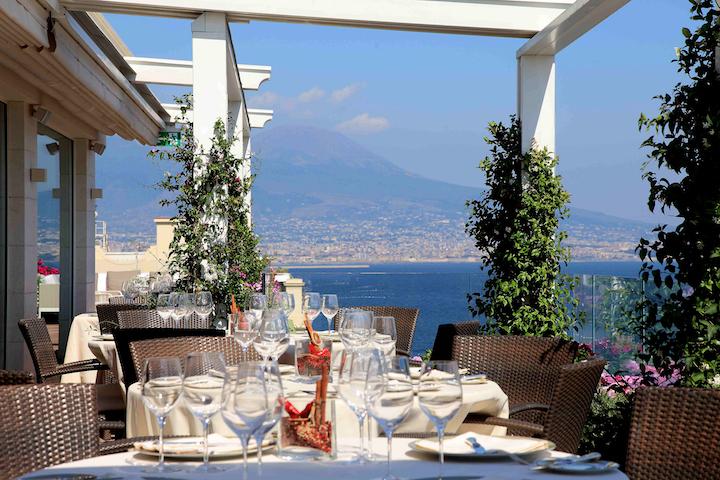 The Caruso roof garden at the Grand Hotel Vesuvio