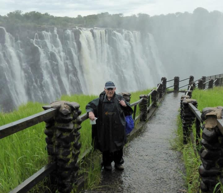Poncho pants at Victoria Falls
