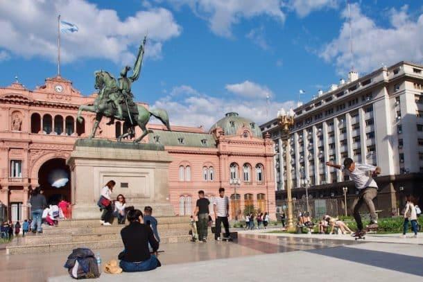 Casa Rosada and Plaza de Mayo in Buenos Aires