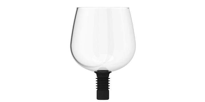 Guzzle Buddy wine topper wine glass