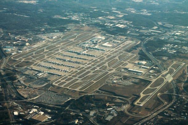 The current runway layout of Atlanta Hartsfield-Jackson International Airport (Credit: Wikipedia)