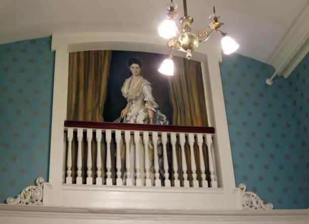 A portrait of Carolyn in the main lobby