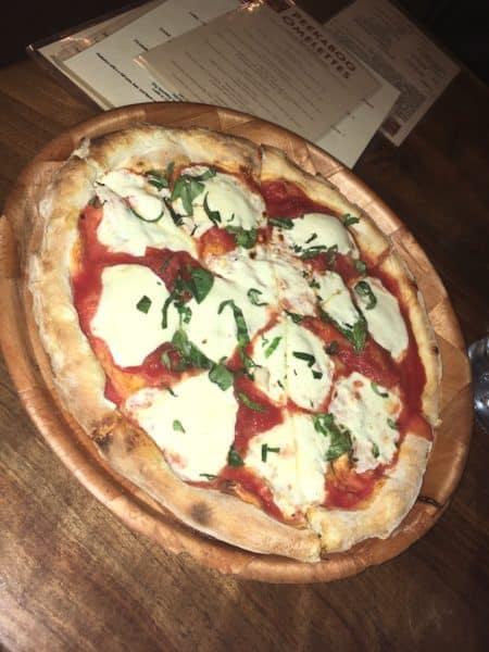 Margherita pizza at Peekaboo Canyon Wood Fired Kitchen
