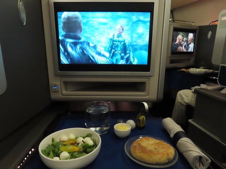 Appetizer on the return flight