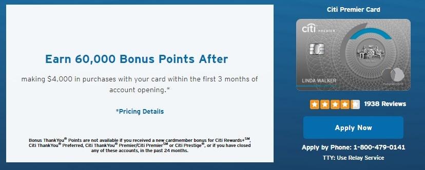 citi premier bonus offer