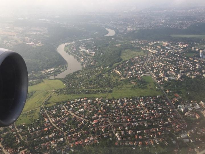 Arrival in Prague