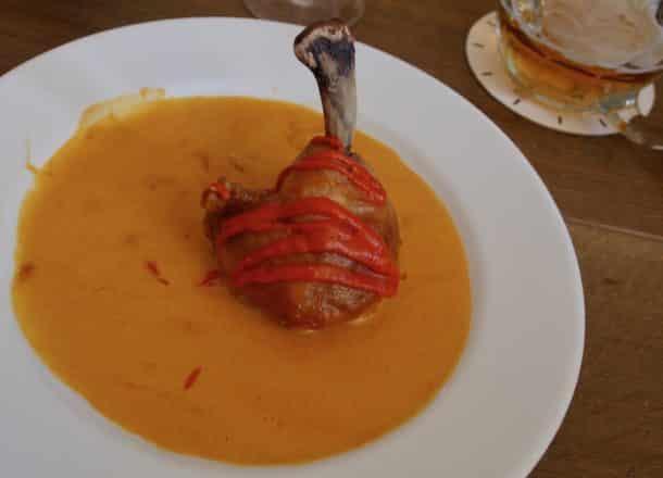 Delicious paprika chicken at Kuchyň