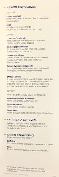 PRG-EWR menu