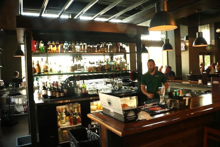 The bar at Milner's Gate restaurant (Credit: Bill Rockwell)