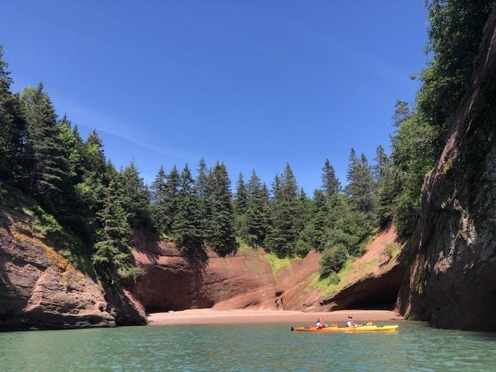 Kayaking sea caves