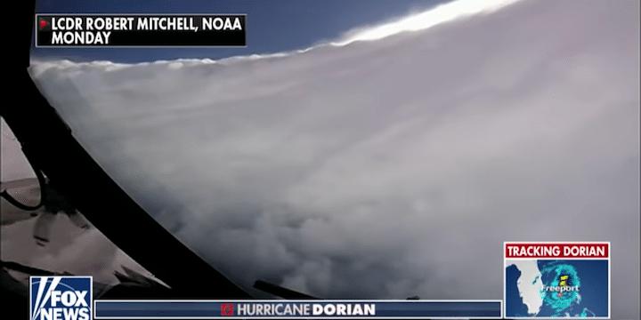 Flying inside Hurricane Dorian