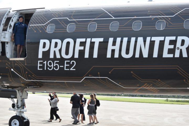 Embraer E195-E2 Profit Hunter at Embraer Media Day