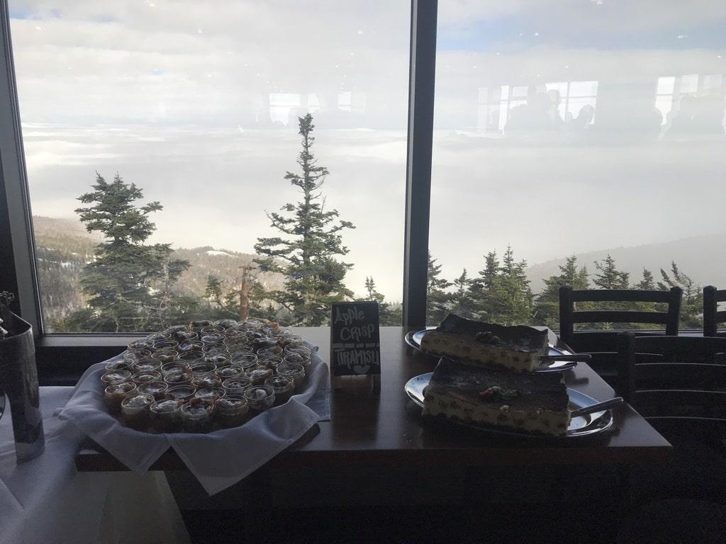 Peak Lodge goodies and view