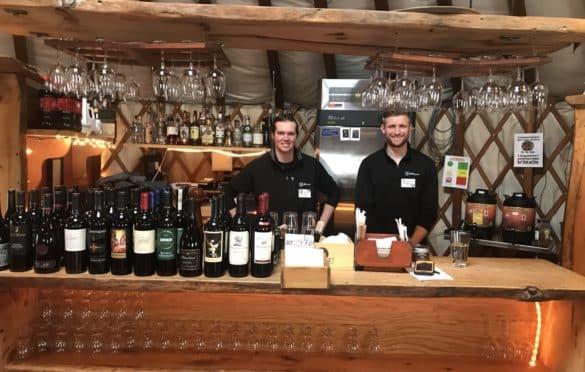 Ledgewood Yurt bartenders