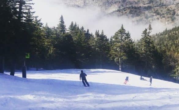 A beautiful ski run in Killington, Vermont