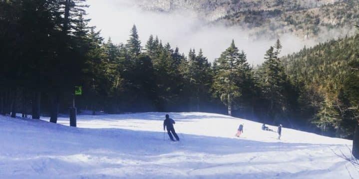 A beautiful run in Killington, Vermont