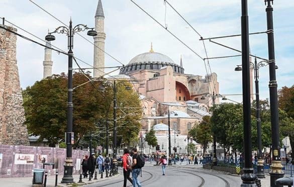 View of the Hagia Sofia