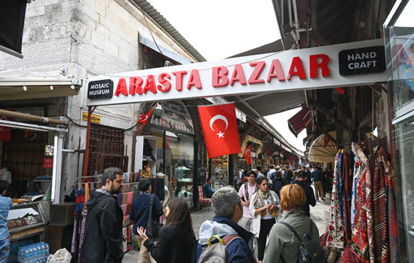 Popular spice market in Istanbul