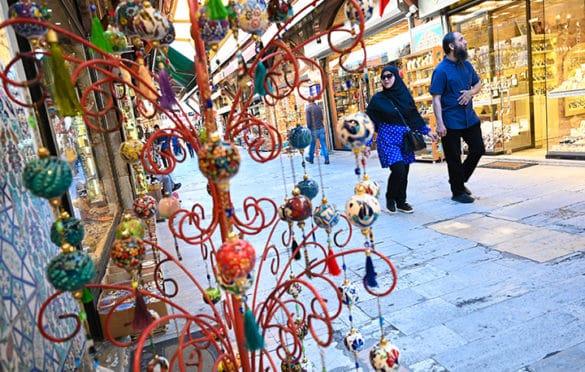 Shoppers peruse Arasta Bazaar