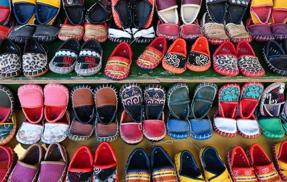 Handmade toddler slippers at Arasta Bazaar