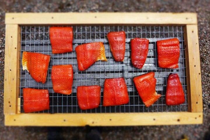 Smoked salmon at Indian Falls Chalets