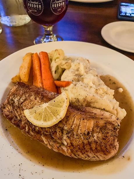Grilled cod from Newfoundland Tea Co. in Gander