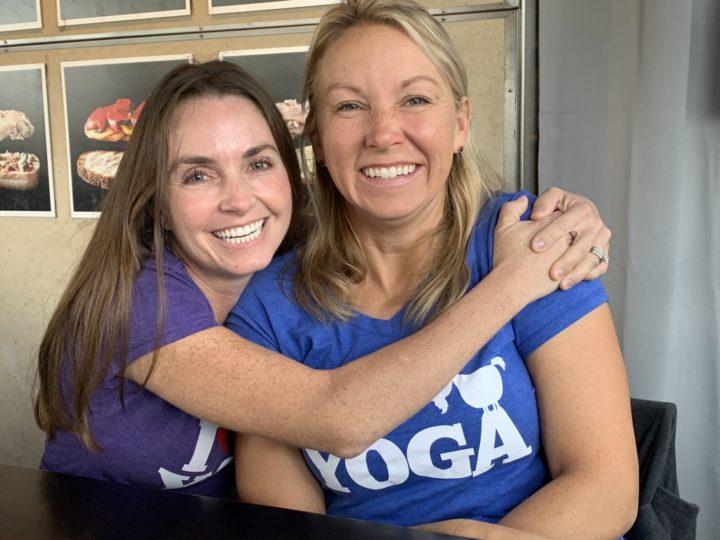 Sarah and April, creators of goat yoga